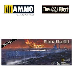 S.M. U-Boot 9. Escala 1:72. Marca Das Wert. Ref:DW72001.