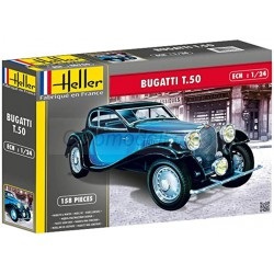 Bugatti T.50. Escala 1:24. Marca Heller. Ref: 80706.
