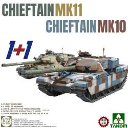 British Chieftain Mk.11 / Mk.10 (1+1 kits). Escala 1:72. Marca Takom. Ref: 5006.