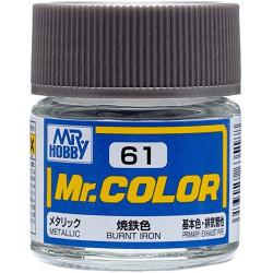 Lacquer paint metallic Burnt Iron. Bote 10 ml. Marca MR.Hobby. Ref: C061.