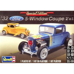 Vehículo 1932 Ford 5 Window Coupe 2n1. Escala 1:24. Marca Revell. Ref: 14228.