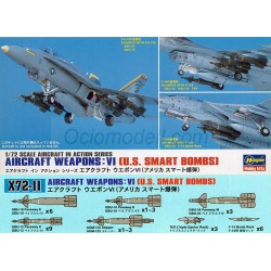 AIRCRAFT WEAPONS VI : U.S. SMART BOMBS. Escala 1:72. Marca Hasegawa. Ref: X72-11.