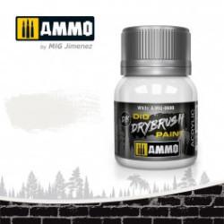 DRYBRUSH Blanco. Bote 40 ml. Marca Ammo by Mig Jimenez. Ref: AMIG0600.