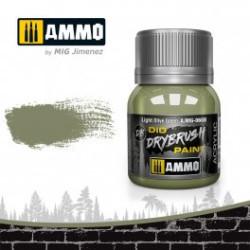 DRYBRUSH Verde Oliva Claro . Bote 40 ml. Marca Ammo by Mig Jimenez. Ref: AMIG0608.