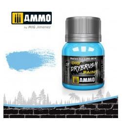 DRYBRUSH Azul Medio. Bote 40 ml. Marca Ammo by Mig Jimenez. Ref: AMIG0614.