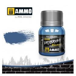 DRYBRUSH Azul. Bote 40 ml. Marca Ammo by Mig Jimenez. Ref: AMIG0615.