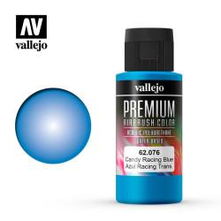 Premium Azul Racing Transparente . Premium Airbrush Color. Bote 60 ml. Marca Vallejo. Ref: 62076.