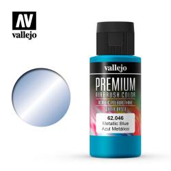 Azul Metálico. Premium Airbrush Color. Bote 60 ml. Marca Vallejo. Ref: 62046.