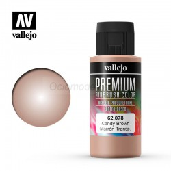 Marrón Transparente . Premium Airbrush Color. Bote 60 ml. Marca Vallejo. Ref: 62078.