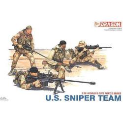 U.S. Sniper Team. Escala 1:35. Marca Dragon. Ref: 3016.