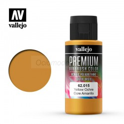 Ocre Amarillo. Premium Airbrush Color. Bote 60 ml. Marca Vallejo. Ref: 62015.