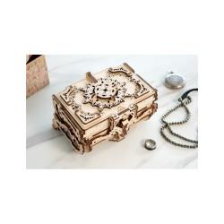 Joyero antiguo (Antique Box), madera contrachapada, Kit de montaje. Marca Ugears, Ref: 70089.