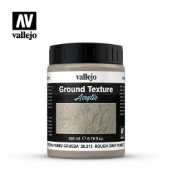 Piedra pomez gris rugosa. Bote 200 ml. Marca Vallejo. Ref: 26213.