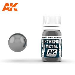 Xtreme Metal, DARK ALUMINIUM. Contiene 30 ml. Marca AK Interactive. Ref: AK480.