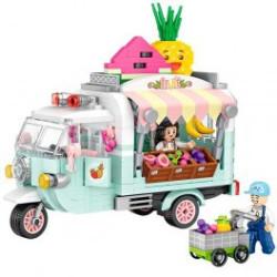 Furgoneta Fruit truck Loz 480 piezas. Kit construction blocks. Marca Loz. Ref: 401737.