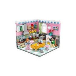 Mini Corner Kitchen Loz 561 piezas. Kit construction blocks. Marca Loz. Ref: 401903.