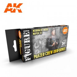 Set de colores 3G, Panzer Crew Black Uniforms. Marca AK Interactive. Ref: AK11622.