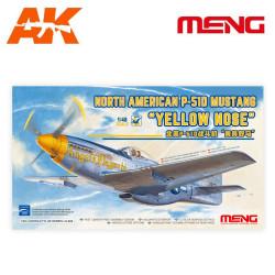 "NORTH AMERICAN P-51D MUSTANG ""YELLOW NOSE"". Escala 1:48. Marca Meng. Ref: LS-009."
