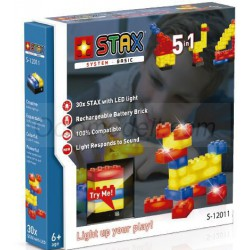 Paquete Stax Basic 30 2V. Kit construction blocks. Marca Stax System. Ref: S-12011.