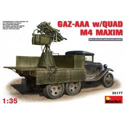 GAZ-AAA w/QUAD M4 MAXIM. Escala 1:35. Marca Miniart. Ref: 35177.