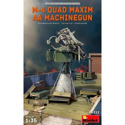 M-4 QUAD MAXIM AA MACHINEGUN. Escala 1:35. Marca Miniart. Ref: 35211.