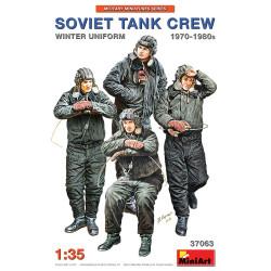 Figuras SOVIET TANK CREW 1970-1980s. WINTER UNIFORM. Escala 1:35. Marca Miniart. Ref: 37063.