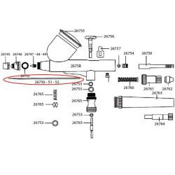 Aguja acero inoxidable 0.50 mm diametro. Para aérografo D-102, D-103 y D-116. Marca Dismoer. Ref: 26752.