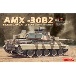 French Main Battle Tank AMX-30B2. Escala 1:35. Marca Meng. Ref: TS-013.