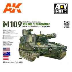 M109 155mm L23 howitzer. Escala 1:35. Marca AFV Club. Ref: AF35329