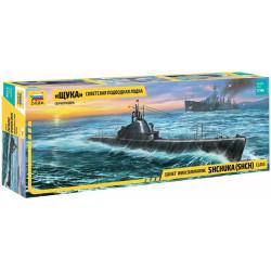 """Soviet WWII Submarine - """"Shchuka"""" (SHCH) class. Escala: 1:144. Marca: Zvezda. Ref: 9041."""