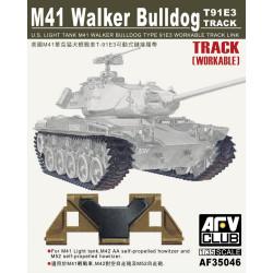 M41 WALKER BULLDOG T91E3 WORKABLE TRACK. Escala 1:35. Marca AFV Club. Ref: AF35046.