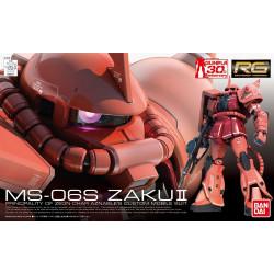 MS-06S ZAKU II Principado de Zeon Char Aznable's Custom Mobile Suit. Serie RG Gundam. Marca Bandai. Ref: 718.