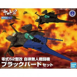 Star Blazers 2202 Mecha Colle No.12 Type 0 Model 52 bis Autonomous Space Fighter Black Bird. Marca Bandai. Ref: 68932.