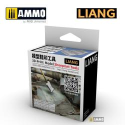 3D Print Model  Shoeprint Tools Modern War. Marca Liang. Ref: LIANG-0402.
