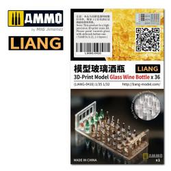 3D-Print Model Glass Wine Bottle x 36. Marca Liang. Ref: LIANG-0416.