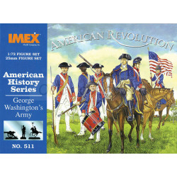 Set George Washington's Army. Escala 1:72. Marca Imex. Ref: IM511.