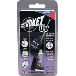 Roket UV. Bote 5 gr + Luz ultravioleta. Marca Deluxe. Ref:  AD88.