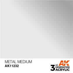 Acrílicos de 3rd, METAL MEDIUM -AUXILIARY . Bote 17 ml. Marca Ak-Interactive. Ref: Ak11232.