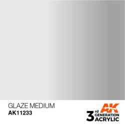 Acrílicos de 3rd, GLAZE  MEDIUM -AUXILIARY . Bote 17 ml. Marca Ak-Interactive. Ref: Ak11233.