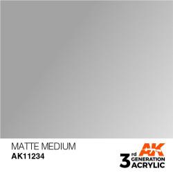 Acrílicos de 3rd, MATTE  MEDIUM -AUXILIARY . Bote 17 ml. Marca Ak-Interactive. Ref: Ak11234.