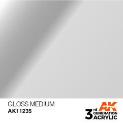 Acrílicos de 3rd, GLOSS  MEDIUM -AUXILIARY . Bote 17 ml. Marca Ak-Interactive. Ref: Ak11235.