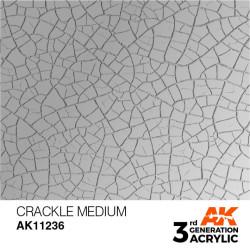 Acrílicos de 3rd, CRAKLE MEDIUM -AUXILIARY . Bote 17 ml. Marca Ak-Interactive. Ref: Ak11236.