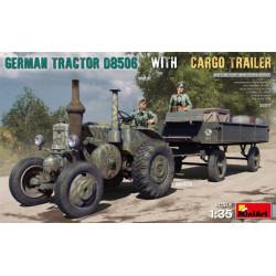 GERMAN TRACTOR D8506 WITH CARGO TRAILER. Escala 1:35. Marca Miniart. Ref: 35317.