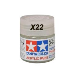 Gloss Clear, Barniz Brillo (81022). Bote 23 ml. Marca Tamiya. Ref: X-22, (X22)