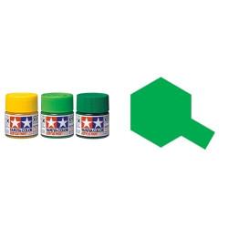 Gloss Clear Green, Verde translucido brillo (81025). Bote 23 ml. Marca Tamiya. Ref: X-25.