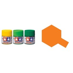 Gloss Clear Orange, Naranja translucido brillo (81026). Bote 23 ml. Marca Tamiya. Ref: X-26.