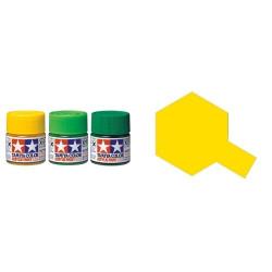 Flat Yellow, Amarillo Mate (81003). Bote 23 ml. Marca Tamiya. Ref: XF-3.