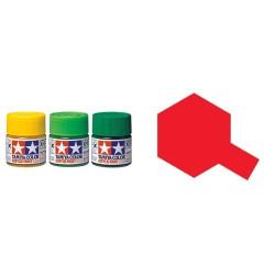Flat Red, Rojo Mate (81007). Bote 23 ml. Marca Tamiya. Ref: XF-7.