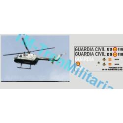 """Calcas Helicóptero BO-105 """"09-114"""" Guardia Civil. Escala 1:48. Marca Trenmilitaria. Ref: 000_4210."""