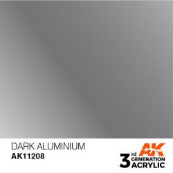 Acrílicos de 3rd General, DARK ALUMINIUM. Bote 17 ml. Marca Ak-Interactive. Ref: Ak11208.